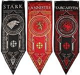 GOT Premiere Banners 3pc. Set - House Stark, Lannister, Targaryen | Premium Thick Double Sided Print