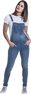 Blue Denim Skinny Fit Dungarees Ladies Bib Overalls Narrow Leg