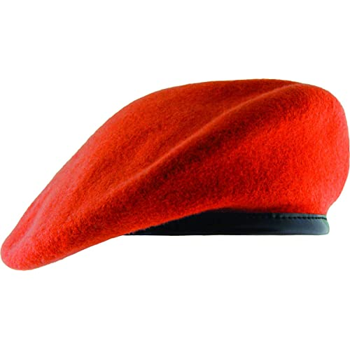 Unlined Beret with Leather Sweatband