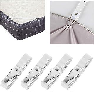 Bed Sheet Holder Straps- Adjustable Fitted Sheet Clips Bed Sheet Fastener Suspenders Elastic Gripper Holder Used for Bed S...