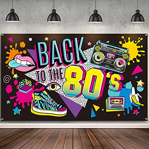 Back to the 80's Giant Party Backdrop. Add to the wall of any room or use as a photo background.