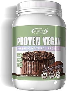 Gaspari Nutrition Proven Vegan Organic Natural Protein, Soy Free, Non-GMO, Double Chocolate Cake, 2 Pound
