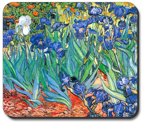 Van Gogh Irises Mouse Pad - by Art Plates