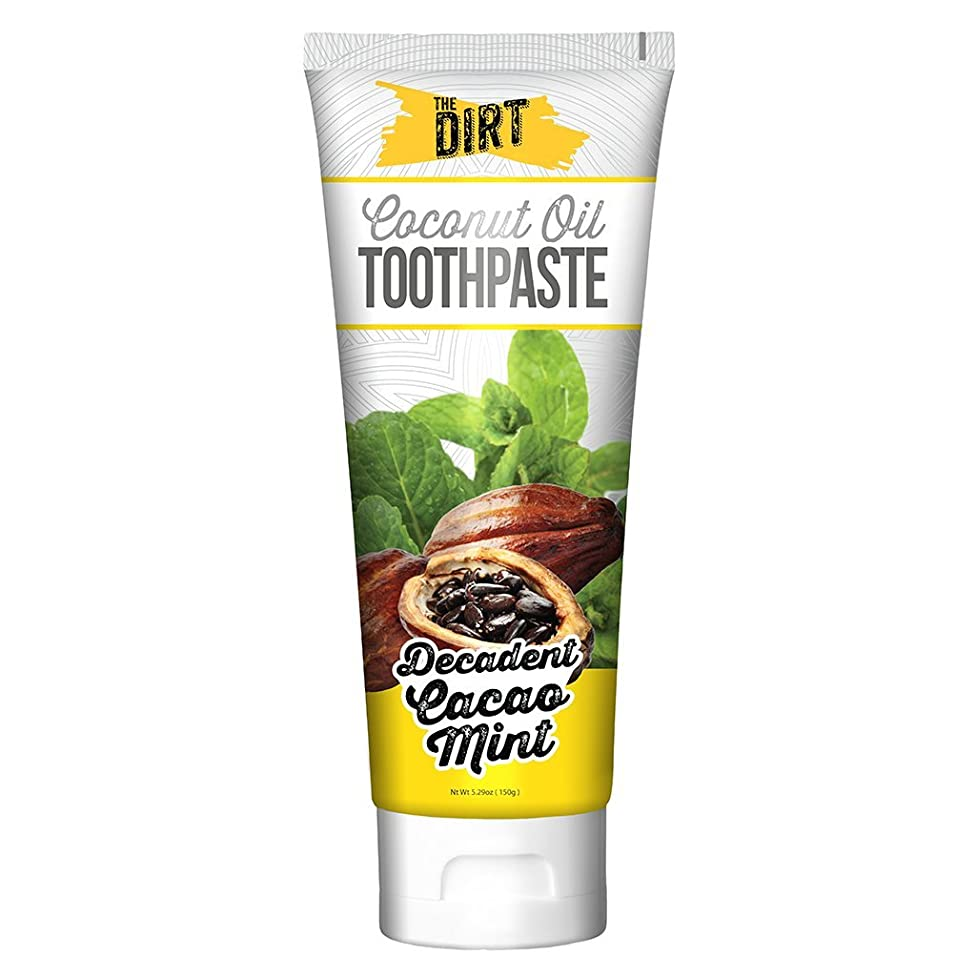 The Dirt All Natural Coconut Oil Remineralizing Toothpaste - Cacao Mint - 150 Gram