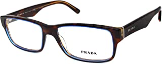 Prada Eyeglasses VPR16M VPR-16M ZXH-1O1 Tortoise/Brown/Denim Optical Frame 53mm