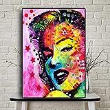 NOBRAND Famoso Sexy Monroe Wall Pictures Living Room Carteles E Impresiones De Películas Wall Art Canvas Painting Home Decor Colorful Figure