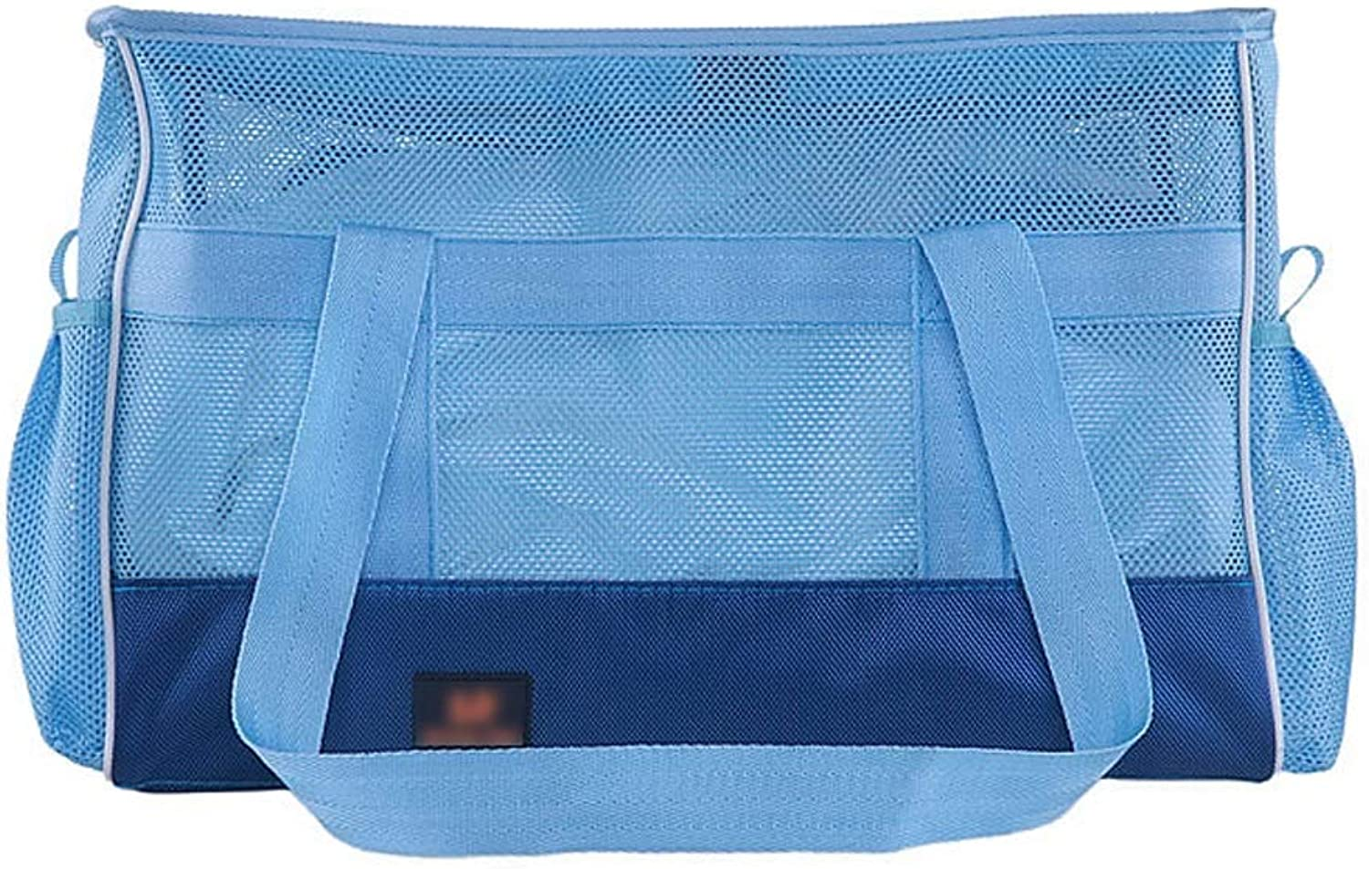 Pet Travel Bag Pet Handbag bluee 1680D Nylon Breathable Mesh Portable Folding Dualuse Dog Cat Outdoor Shoulder Bag Travel Carrier (Size   50  22  33CM)