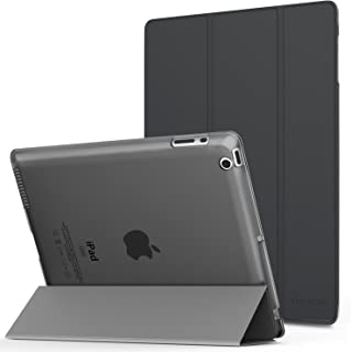 MoKo Case Fit iPad 2/3/4 - Ultra Lightweight Slim Smart Shell Stand Cover with Translucent Frosted Back Protector Fit iPad 2/The New iPad 3 (3rd Gen)/iPad 4, Space Gray (with Auto Wake/Sleep)