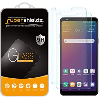(2 Pack) Supershieldz for LG Stylo 5 / Stylo 5 Plus and Stylo 5X Tempered Glass Screen Protector, Anti Scratch, Bubble Free