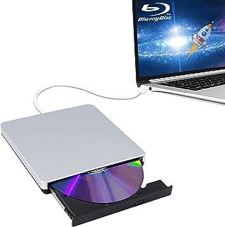 ブルーレイ ドライブ外付けCD/BD/DVD再生・blu-ray 外付けドライブ読み書きに対応Windows/Mac OS両方対応一年