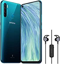 Infinix S5 X652A Premium, Free Gift Headset Bundled,6.6 inch Infinity-O Display,128GB+6GB RAM,32MP Front Camera,AndroidTM 9 Pie system,4G LTE, Cyan