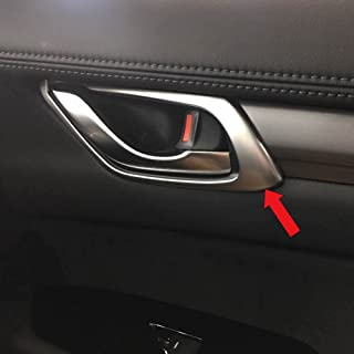 Beautost Fit for Mazda 2017 2018 New CX-5 CX5 Matte Interior Door Handle Bowl Cover Trims