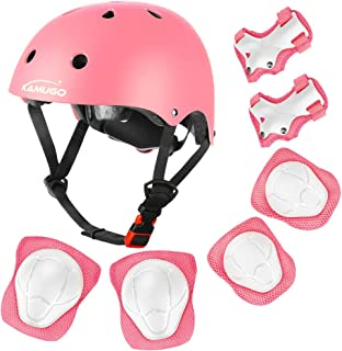 KAMUGO Kids Adjustable Helmet Suitable for Ages 3-8 Toddler Boys Girls, Multi-Sport Safety Helmet for Cycling Skating Skateboard Scooter Rollerblading