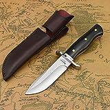 NedFoss Jagdmesser scharf Hunter, Survival Messer für Outdoor, Scharfer D2 Messer mit...