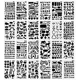 Set di 24 Stencil per Lettere, Stencil per Pittura riutilizzabili, Stencil di Alfabeto in...