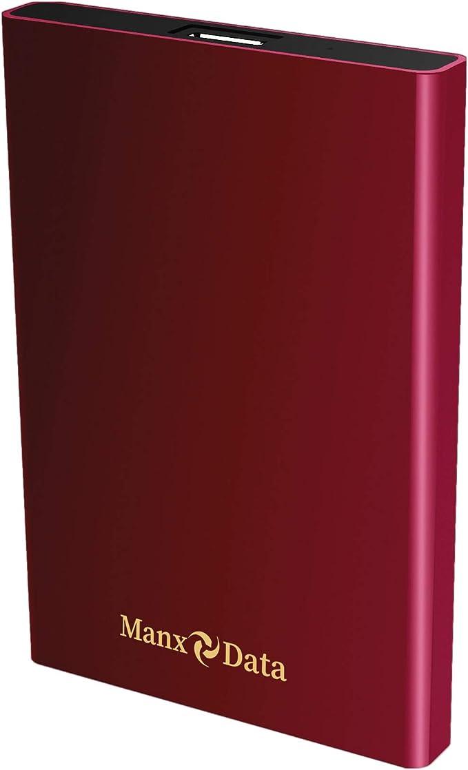 198 opinioni per ManxData- Hard disk esterno portatile USB 3.0, 500 GB, per PC, Mac, Smart TV,