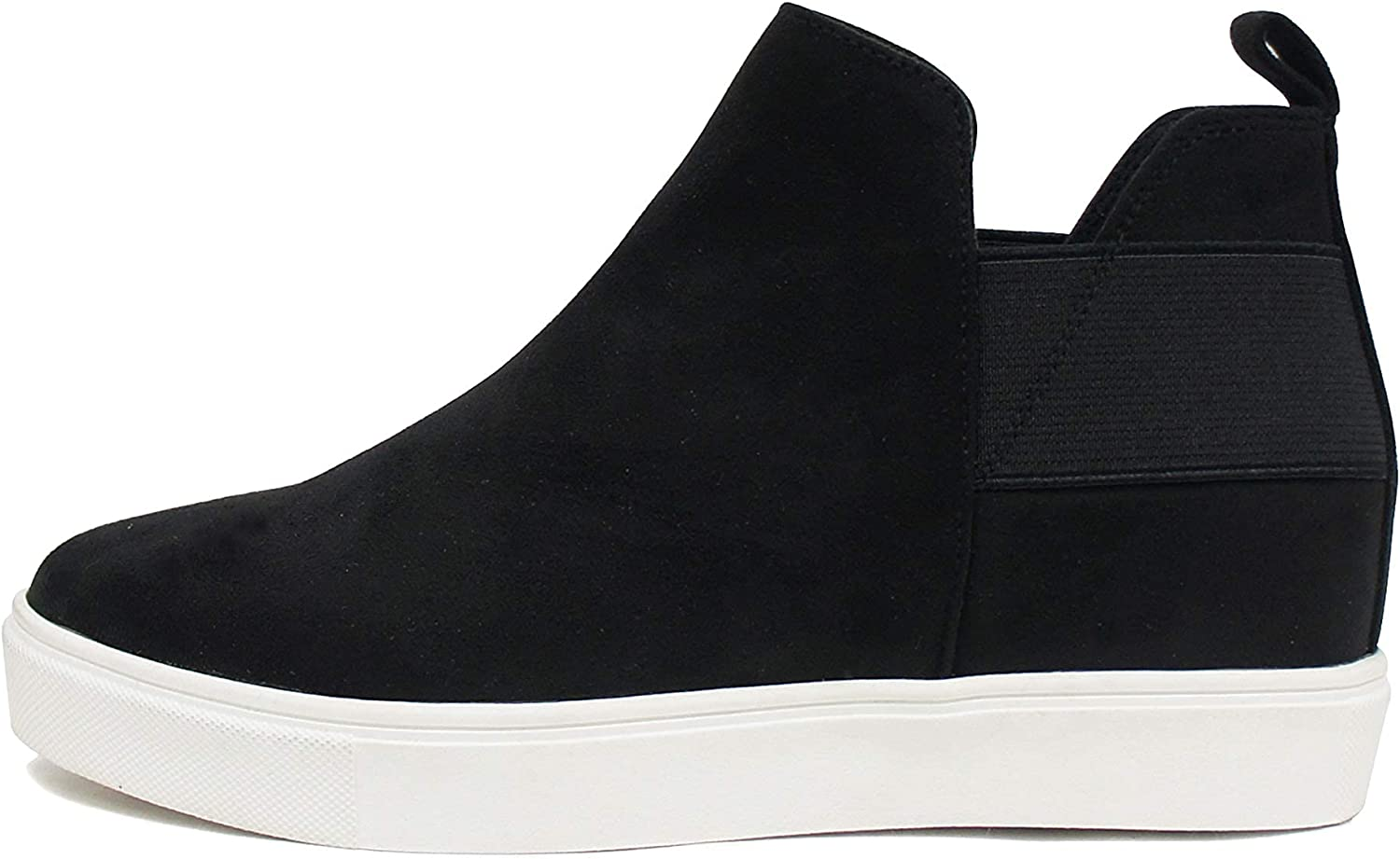 Soda Topshoe Diana - High Top Sneaker with Hidden Wedge and Elastic Gore Insets