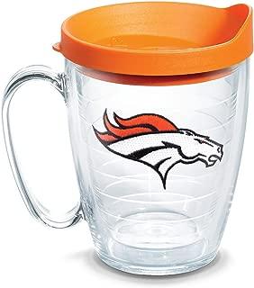 Tervis 1062475 NFL Denver Broncos Primary Logo Tumbler with Emblem and Orange Lid 16oz Mug, Clear