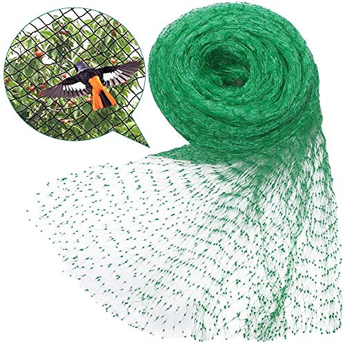 YSYDE 2PCS 13.1 * 32.8ft Anti Bird Netting, Garden Plant Fruits Heavy Duty Nylon Fencing Mesh, No Tangled and Reused for Seedling Vegetables Flowers Bushes
