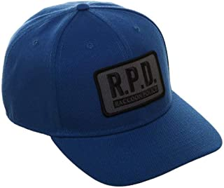 Resident Evil R.P.D. Cosplay Pre-Curved Bill Snapback Blue