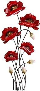 Wandbild Wanddeko Wandzweig Mohnblume rot 66cm Artikel 673473