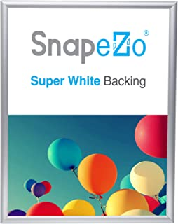 SnapeZo Poster Frame 12x16 Inches, Silver 1 Inch Aluminum Profile, Front-Loading Snap Frame, Wall Mounting, Sleek Series