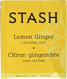 Stash Tea Lemon Ginger Herbal Tea 100 Count Box of Tea Bags, Premium Herbal Tisane, Citrus-y Warming Herbal Tea, Enjoy Hot...