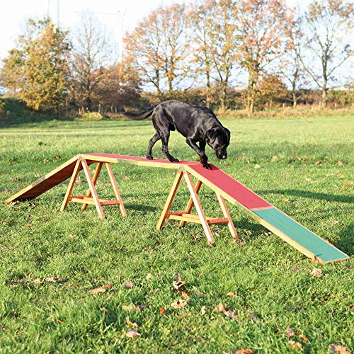 Trixie 32090 Dog Activity Agility Steg, 456 × 64 × 30 cm