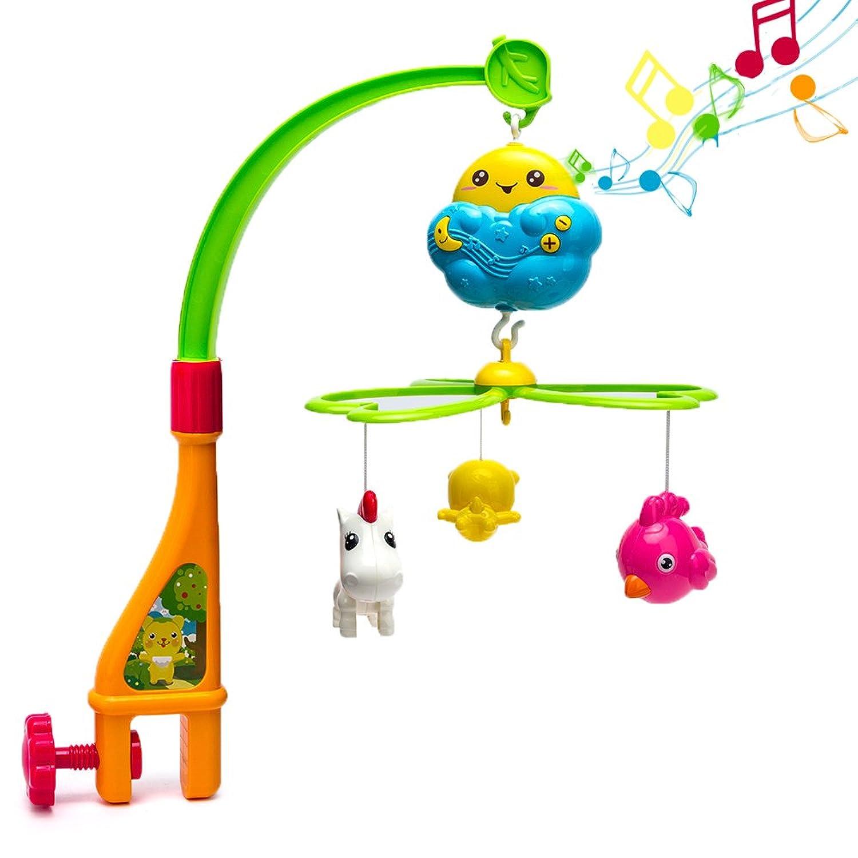 ベビーベッドモバイル おやすみモビール ベッドメリー メロディ - Happytime CT16001 音楽回転 0歳から 赤ちゃん 知育おもちゃ 幼児用寝具