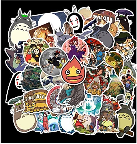 GSNY Anime Hayao Miyazaki mi Vecino Totoro Pegatinas de película Trolley Case Skateboard Graffiti Pegatinas 50 Hojas