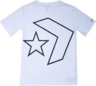 Converse Kids Boy's Outlined Star Chevron Tee (Big Kids)