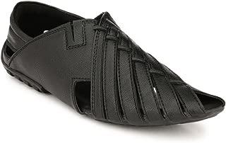 SHOE DAY Men' Roman Artificial Leather Sandals