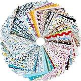 Qpout 100 Stück 10 x 10 cm Mehrfarbiger Stoff Patchwork