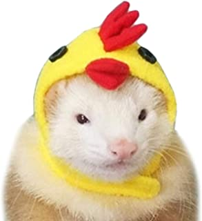Alfie Pet - Layla Chicken Hat for Party Halloween Special Events Costume for Mouse, Chinchilla, Rat, Gerbil and Dwarf Hamster