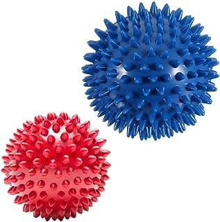 Pack of 2 Spiky Massage Balls - Plantar Fasciitis, Muscle Soreness Massager Ball