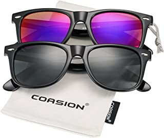 COASION Classic Polarized Sunglasses for Men Women Retro...