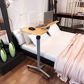 Table Notebook Laptop Desk Portable Standing Bed Sofa Table Height Adjustable Desktop Can Tilted Pulley Move 2 Colors 68x3...