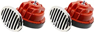 Reverse Horn Dual-Tone Electronic Snail Back-up Alarm with Cover for Electric Vehicles Motorcycles Bicycles Small Cars 110dB 510hz/410hz 12V DC 1 Pair
