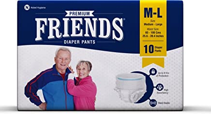 FRIENDS Adult Pullups - Medium To Large (Pack Of 3) 30 Counts