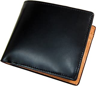 [マトゥーリ]Maturi エグゼクティブ コードバン バッファローレザー 馬 水牛 メンズ 二つ折り財布 MR-042 黒
