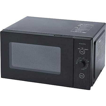 [山善] 電子レンジ フラットテーブル 単機能 18L ヘルツフリー ひとり暮らし用 簡単操作 ブラック YRL-F180(B) [メーカー保証1年]