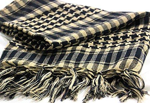 Dhana Style アフガンストール アラブストール チェック柄マフラー スカーフ (タン)
