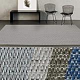 casa pura® Indoor- & Outdoor-Teppich Turin | Bodenbelag für Flur, Küche, Bad, Terrasse, Balkon, Garten | kunstvoll gewebt mit Schimmer Optik | Viele Größen (90x200 cm)