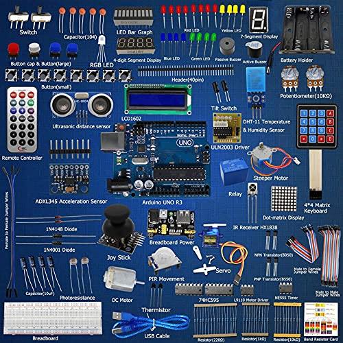 Romacci Kit de aprendizado inicial para processamento do servo Arduino UNO R3 LCD1602