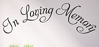 In Loving Memory Wall Decals Stickers, Black, 15