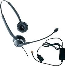Jabra 2125 Duo Headset Bundle - Headset, Telephone Cable   VoIP, IP, Digital: Grandstream, Mitel, NEC, ShoreTel, Aastra, Toshiba, Nortel, Norstar, Yealink