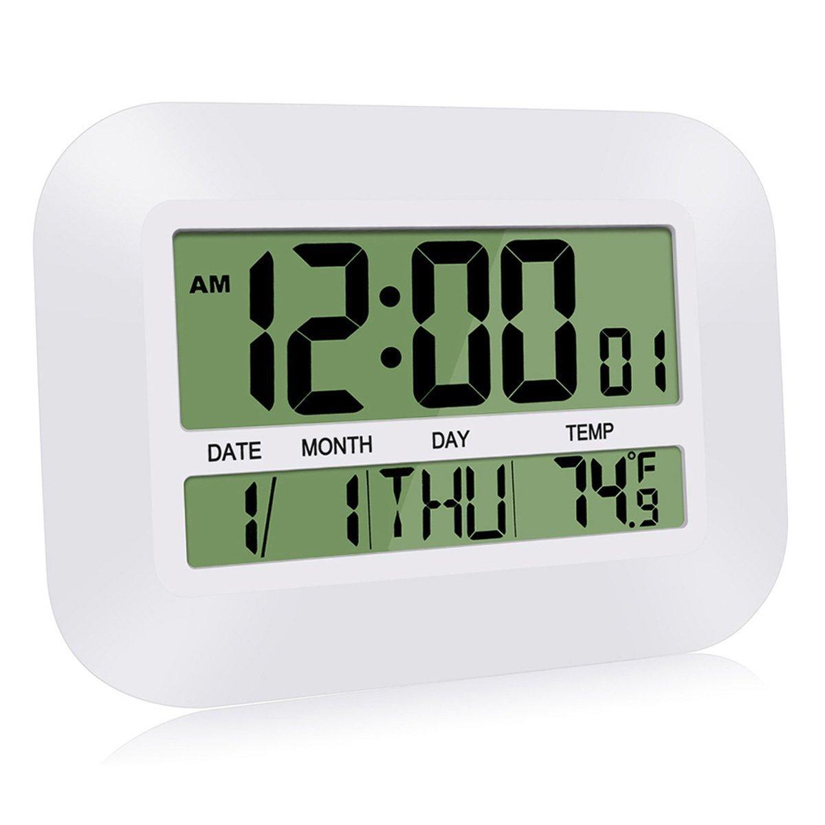 HeQiao Silent Digital Temperature Calendar
