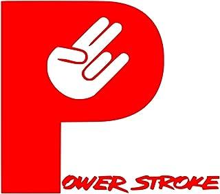 UR Impressions Red Powerstroke Shocker Hand Decal Vinyl Sticker Graphics Car Truck SUV Van Wall Window Laptop|RED|5.5 X 5 Inch|URI189-R
