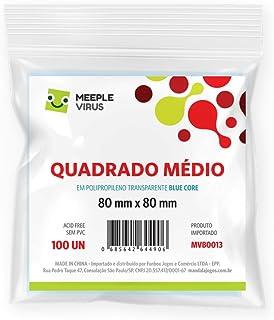 Sleeves Quadrado 70 x 70 mm Blue Core - Meeple Virus