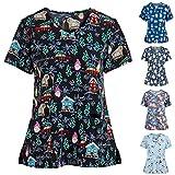 TUDUZ Weihnachten das Erntedankfest Uniformen Damen Schlupfkasack/Pflegekasack/Klinikkasack, in vielen Verschiedene Trendfarben, Gesundheitswesen (Grau, Small)